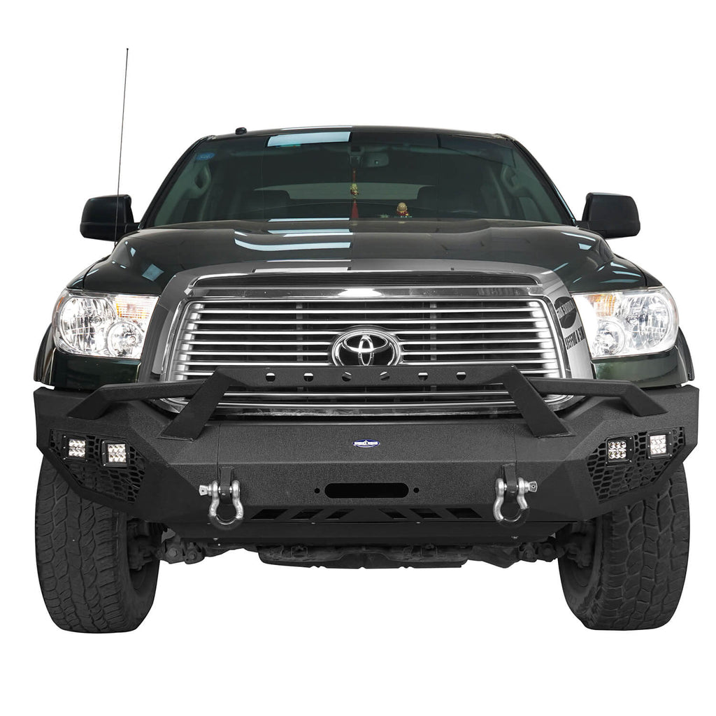 Full Width Front Bumper with Hoop(07-13 Toyota Tundra)
