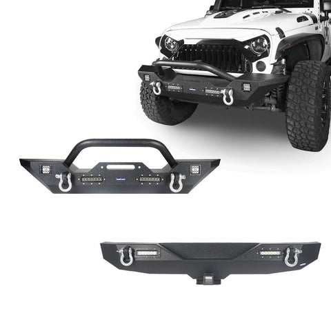 Different Trail Front & Rear Bumper Combo(07-18 Jeep Wrangler JK)
