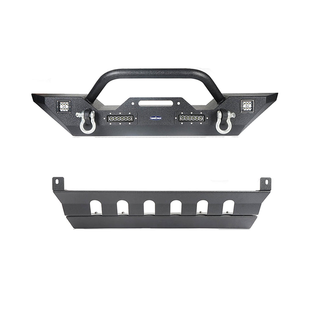 Jeep JK Mid Width Front Bumper with Winch Plate Front Skid Plate for Jeep Wrangler JK 2007-2018 BXG143BXG204 Jeep Accessories u-Box offroad 2