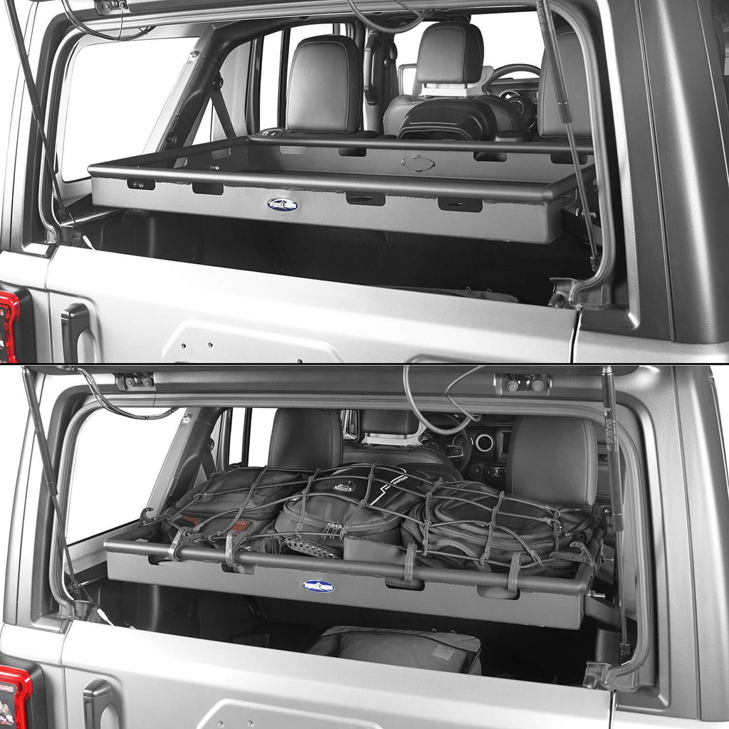 Interior Cargo Rack 4 Door w/Elastic Rope Net(18-20 Jeep Wrangler JL)