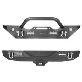 Jeep JL Mid Width Front Bumper with Winch Plate Rear Bumper for 2018-2019 Jeep Wrangler JL bxg543bxg505 Jeep Parts Jeep Body Kits u-Box offroad 2