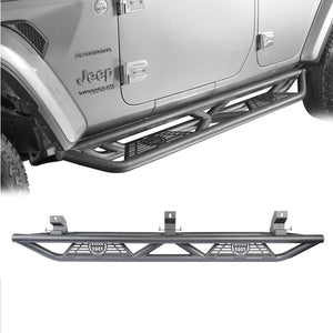 Tube Side Steps Running Boards w/ SINCE 1941 Logo(18-20 Jeep Wrangler JL 4 Doors)