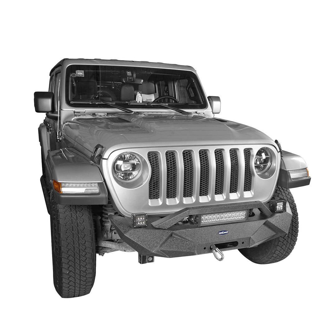 Blade Master Front Bumper w/Winch Plate & Light Bar(18-20 Jeep Wrangler JL)