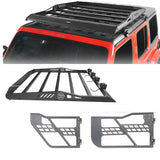 4-Door Hard Top Roof Rack & Tubular Half Doors(20-21 Jeep Gladiator)