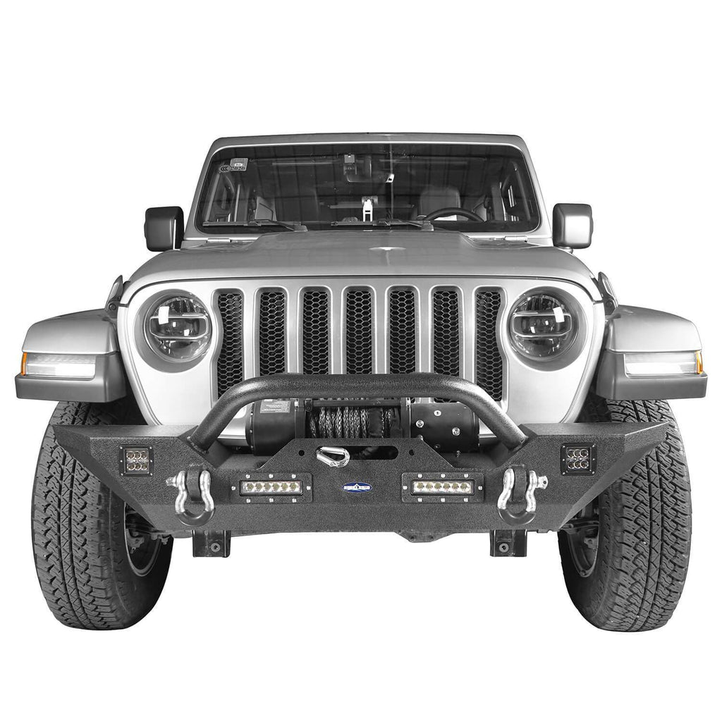Different Trail Front Bumper w/Winch Plate Mid Width Bumper (2020 Jeep Gladiator)