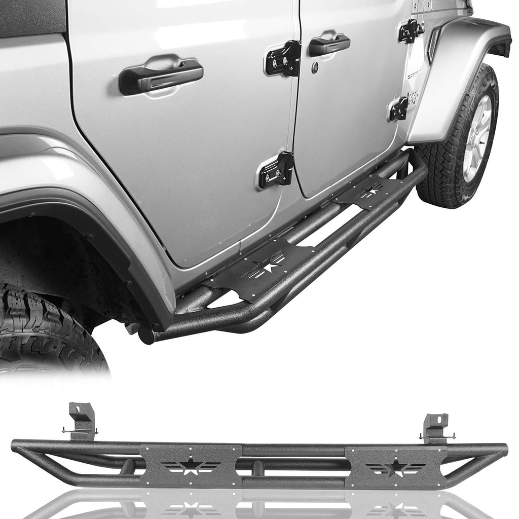 Mid Width Front Bumper & Five Star Side Steps(18-21 Jeep Wrangler JL 4 Door)