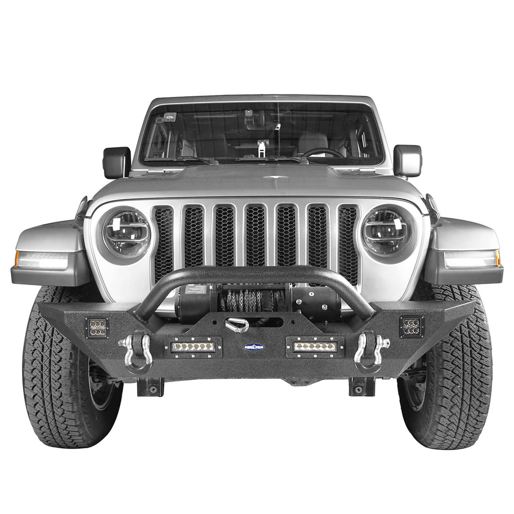 Mid Width Front Bumper & Rear Bumper & Side Steps Nerf Bars(20-21 Jeep Gladiator JT)