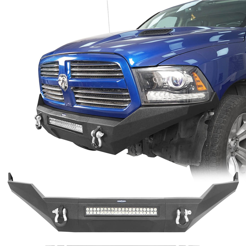 Discoverer Full-Width Front Bumper w/LED Light Bar (13-18 Ram 1500, Excluding Rebel)