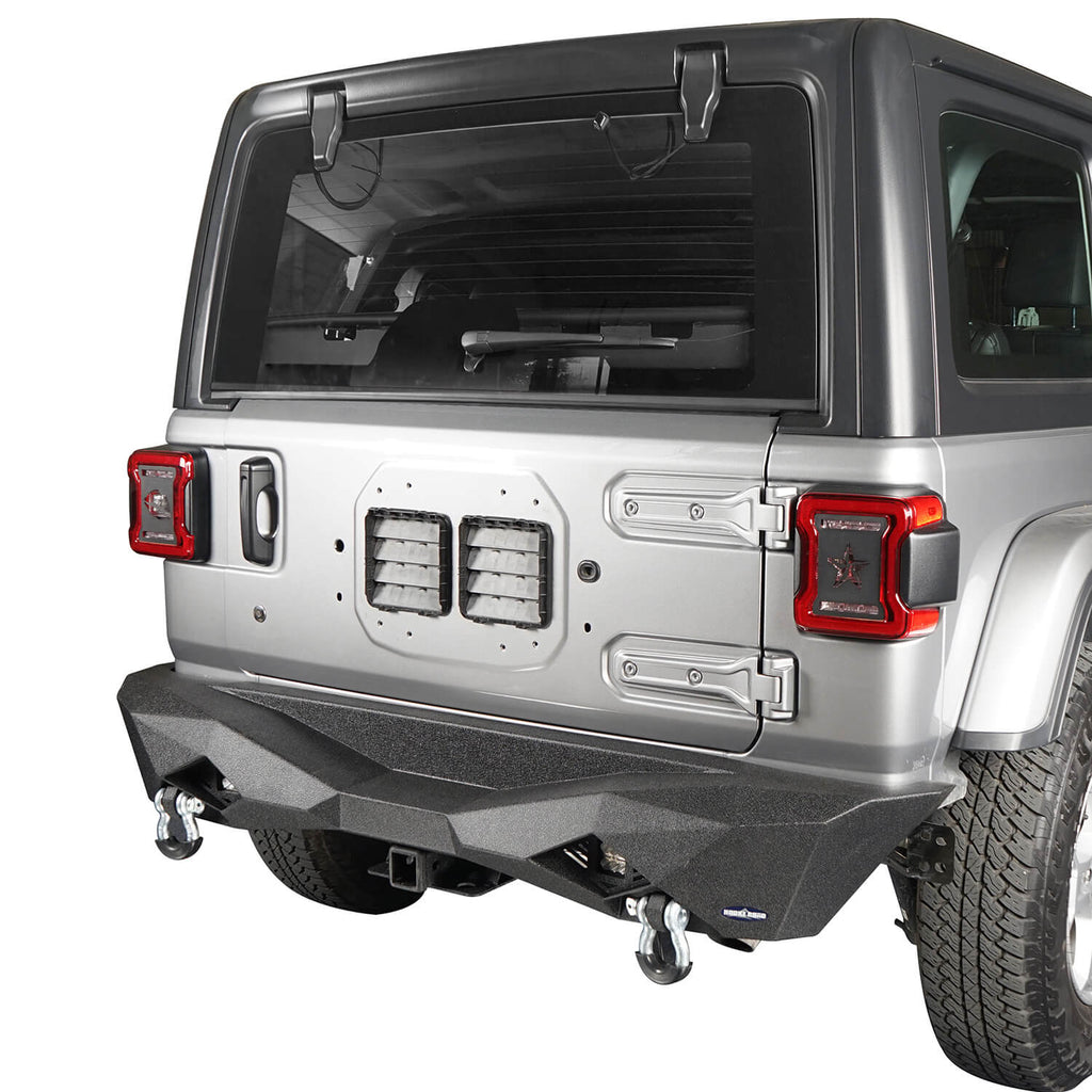 Diomand Style Rear Bumper w/2X 18W LED Floodlights(18-20 Jeep Wrangler JL)