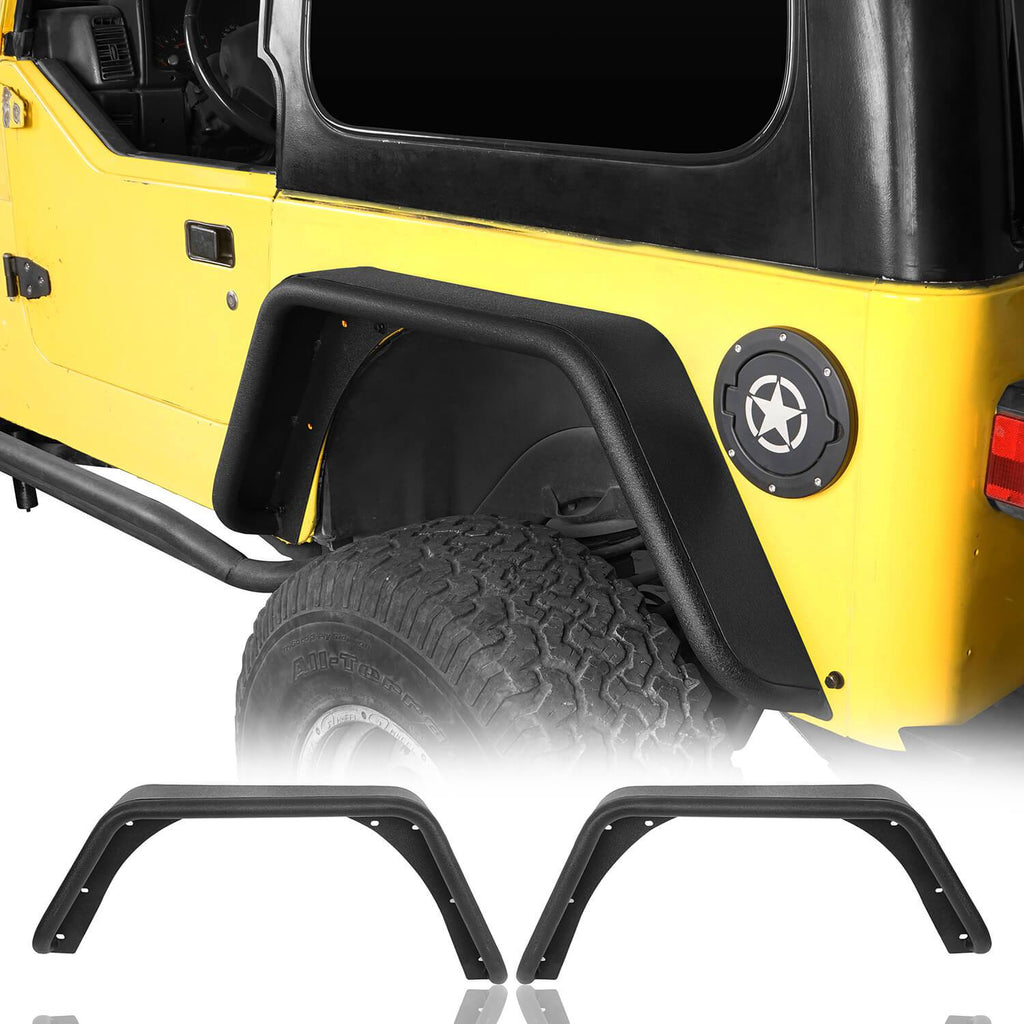 Rear Tube Fender Flares(97-06 Jeep Wrangler TJ)