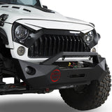 Rock Crawler Stubby Front Bumper & Different Trail Rear Bumper w/Tire Carrier Combo(07-18 Jeep Wrangler JK)
