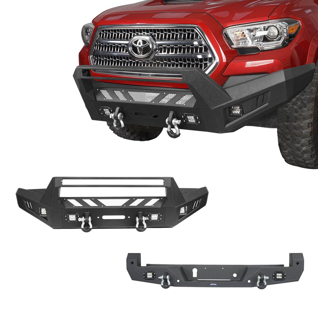 Toyota Tacoma Front Bumper and Rear Bumpers Combo for 2016-2020 Toyota Tacoma 3rd Gen u-Box Offroad BXG42014200 1