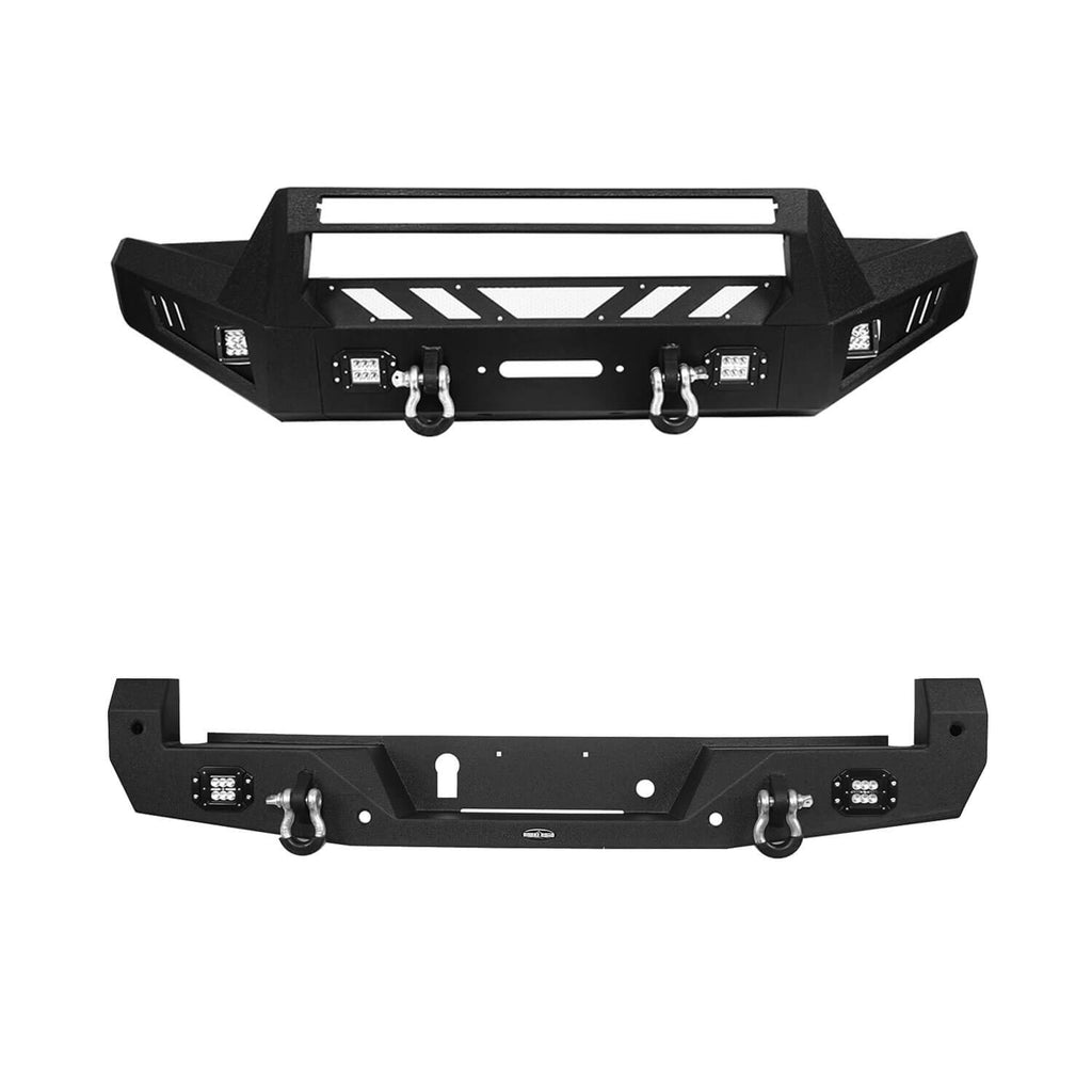 Toyota Tacoma Front Bumper and Rear Bumpers Combo for 2016-2020 Toyota Tacoma 3rd Gen u-Box Offroad BXG42014200 2