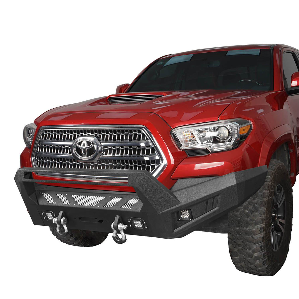 Toyota Tacoma Front Bumper and Rear Bumpers Combo for 2016-2020 Toyota Tacoma 3rd Gen u-Box Offroad BXG42014200 5