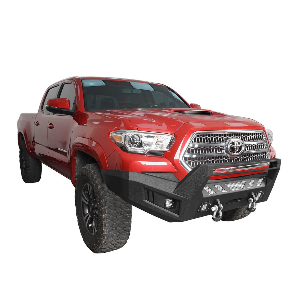 Toyota Tacoma Front Bumper and Rear Bumpers Combo for 2016-2020 Toyota Tacoma 3rd Gen u-Box Offroad BXG42014200 6