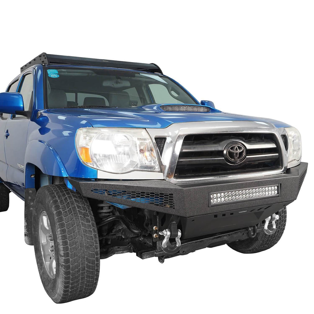 Discovery Full Width Front Bumper w/Skid Plate & LED Light Bar(05-15 Toyota Tacoma)