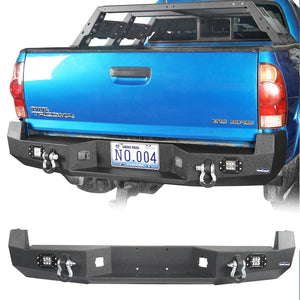 Discovery Rear Bumper w/18W LED Floodlights(05-15 Toyota Tacoma)