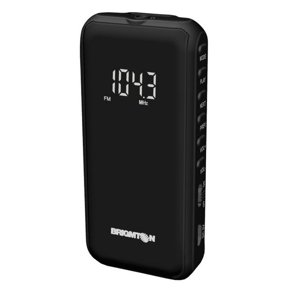 Portable Digital Radio BRIGMTON BT-124-N Micro SD Black  LotSupplies Marketplace