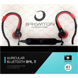 Bluetooth Headset with Microphone BRIGMTON BML-11-R Red