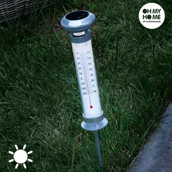 Oh My Home Solar Thermometer Lamp  BigBuy Garden Brand_BigBuy Garden, category-reference-2399, category-reference-2400, category-reference-2420, category-reference-2435, category-reference-2662, category-reference-2663, category-reference-2736, decoration, led / lighting, outdoors / camping, Price_10 - 20, solar / ecology LotSupplies Marketplace