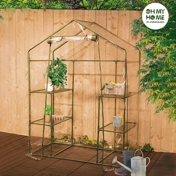 Oh My Home Casa Greenhouse with Shelving  BigBuy Garden black friday / cyber monday, Brand_BigBuy Garden, category-reference-2399, category-reference-2435, category-reference-2662, category-reference-2663, category-reference-2952, hot deals, outdoors / camping, Price_20 - 50, solar / ecology LotSupplies Marketplace