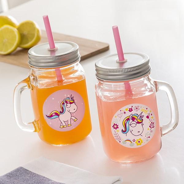 Junior Knows Unicorn Mini Mason Jar Mugs (Set of 2)  BigBuy Cooking animals, Brand_BigBuy Cooking, breakfast, category-reference-2403, category-reference-2449, category-reference-2462, category-reference-2571, category-reference-2593, category-reference-2596, category-reference-2662, category-reference-2669, category-reference-2683, drinks, fashion, fiesta, for the little ones, milkshakes and juices, Price_10 - 20, vintage / retro LotSupplies Marketplace