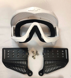 White JT Proflex Goggle Frame with Revo 3 ears and SS screws