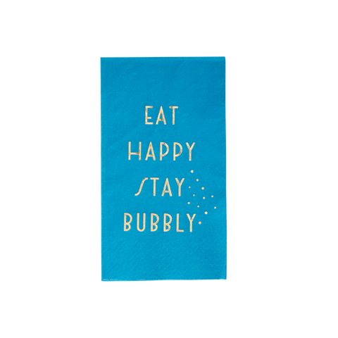 20 Lovely blue lunch napkins
