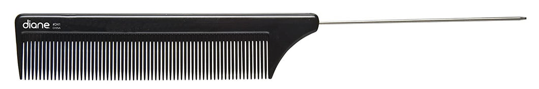 8IN PIN TAIL COMB BONE/BLACK
