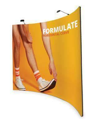 Exhibition Stand Fabric - Horizontal Curve 2.4m - 3m | Formulate