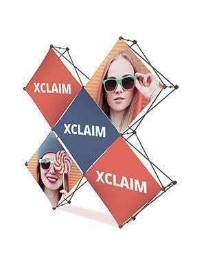 Exhibition Stand Fabric - Xclaim Cross Shape 3 x 3 | Xclaim