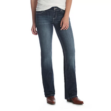 Load image into Gallery viewer, Wrangler Essentials Dark Wash Mid Rise Boot Cut