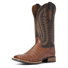 Load image into Gallery viewer, Ariat Men's Double Down Caramel Caiman Belly/Vaviar Black Boot