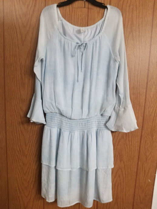 Wrangler Small Bell Sleeve Dress - Pale Blue