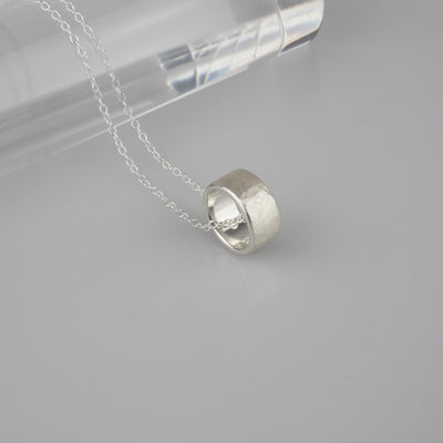 "Silver Necklace ""Tsuchime Ring"" シルバー ネックレス-ネックレス-yuzen-official"