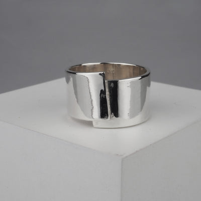 "Silver Ring ""Wrap 002"" シルバー リング-リング-yuzen-official"