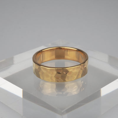 "Gold Ring ""Comfort 001 Gold"" ゴールド リング-リング-yuzen-official"