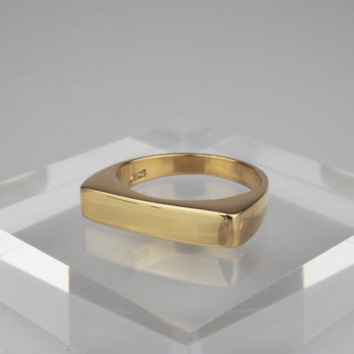 "Gold Ring ""Flat Gold"" ゴールド リング-リング-yuzen-official"