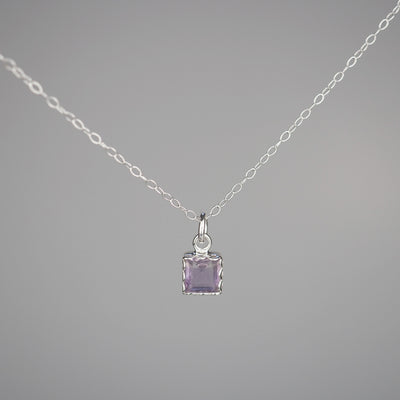 "Silver Necklace ""Amelia 003"" アメジスト シルバー ネックレス-ネックレス-yuzen-official"