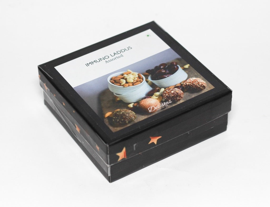 Dry Fruit Laddus - Assorted Box of 4 (Sugar free and Vegan)