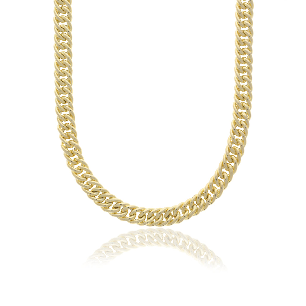 Hollow Double Curb Necklace - essentialsjewels.com