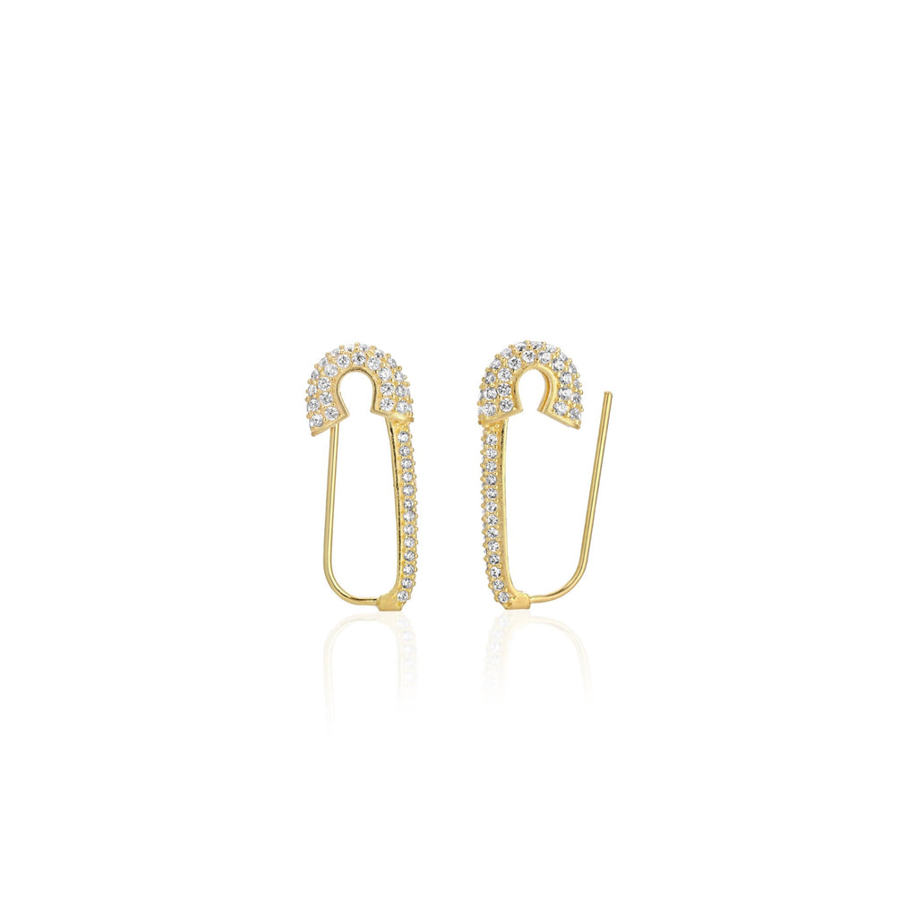 Safety Pin Earrings - essentialsjewels.com