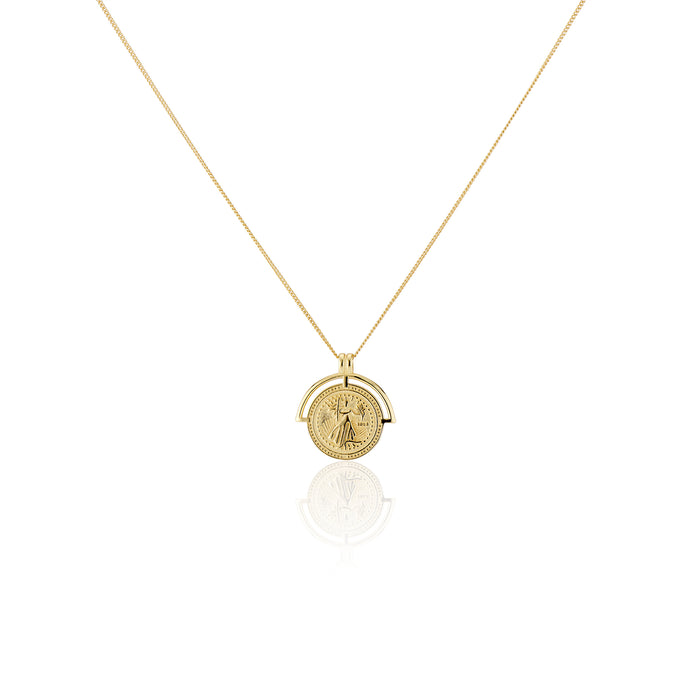 Vintage Coin Necklace - essentialsjewels.com