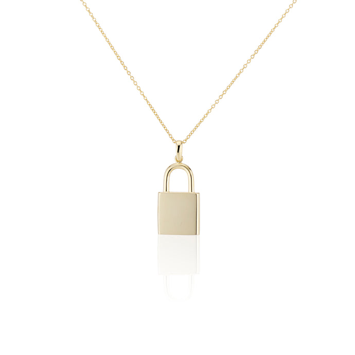 Large Lock Necklace - essentialsjewels.com