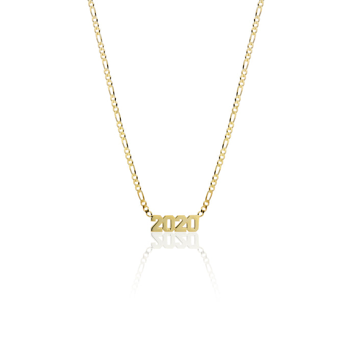 Year Nameplate Necklace - essentialsjewels.com