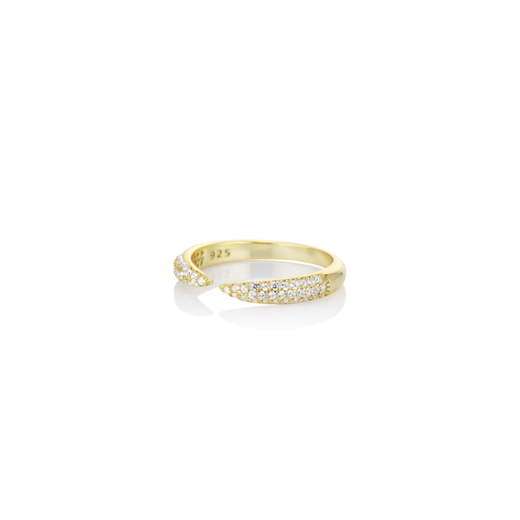 Pave Open Claw Ring - essentialsjewels.com