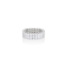 Load image into Gallery viewer, Double Row Princess Cut Band - essentialsjewels.com
