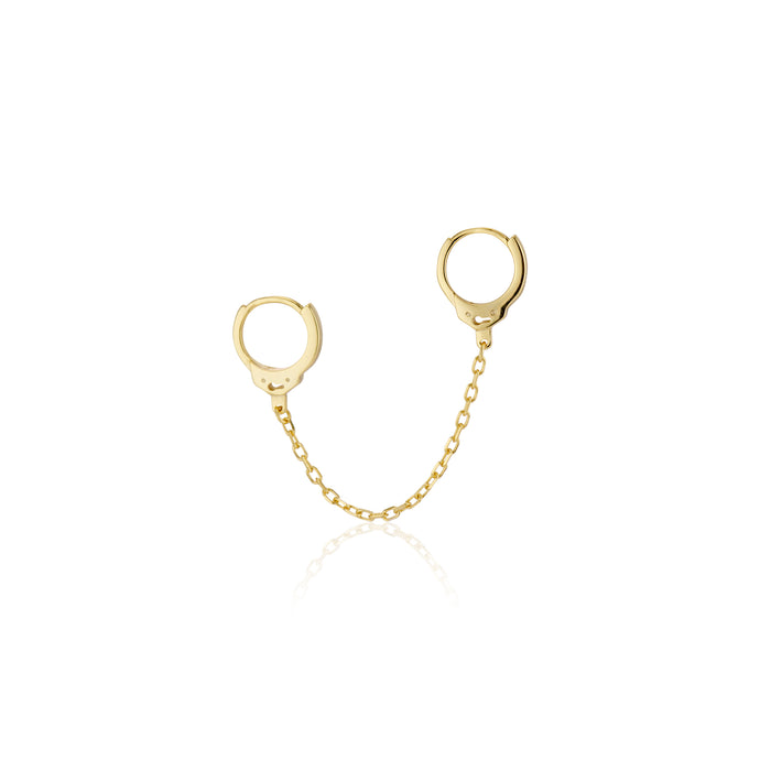Handcuff Chain Huggie Earring - essentialsjewels.com