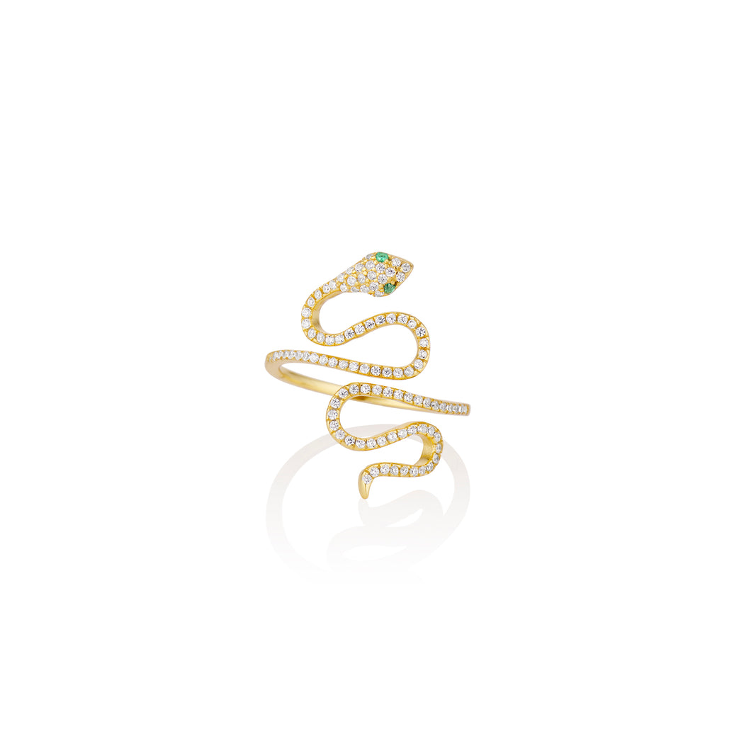 Spiral Serpent Ring - essentialsjewels.com