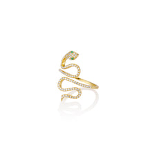 Load image into Gallery viewer, Spiral Serpent Ring - essentialsjewels.com